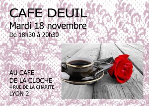 Affichette Café deuil Lyon