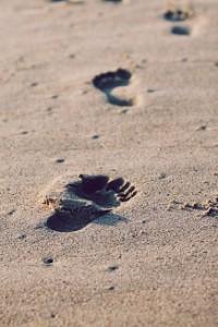 des pas pour le chemin de deuil