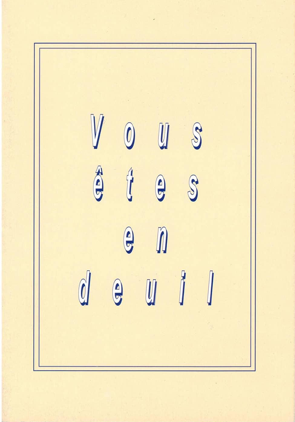Couverture du livret Vous êtes en deuil - Fédération européenne Vivre son Deuil