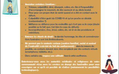 Belgique: Vivre un décès pendant la crise Covid19