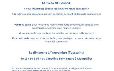 Montpellier : cercles de parole le 1er Novembre 2020